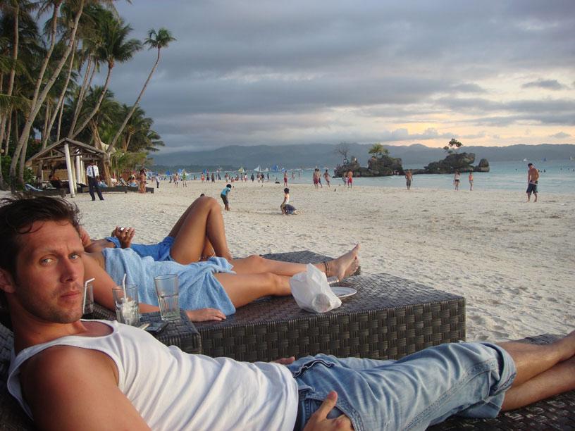 Lasse at the beach